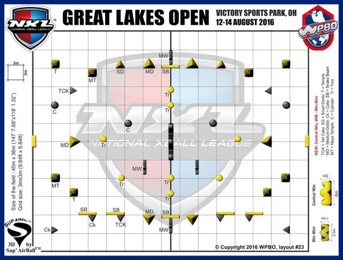 NXL Great Lakes Open 2016 layout